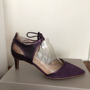 Plum colored suede shoes.  New. Never worn